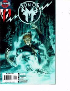 Lot Of 2 Son of M Marvel Comic Book #2 3 Iron Man BH49