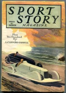 Sport Story Magazine December 1 1928- Race car cover- A Clifford Farrell VG