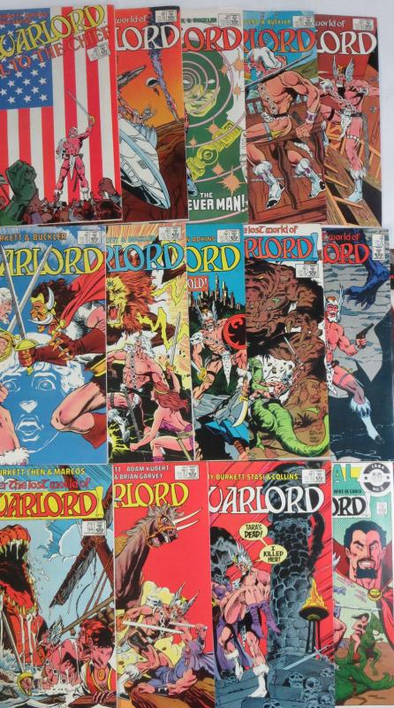 WARLORD 84-96 + Annual 3 DC Comics Book Lot of 14 issues 1984-1985