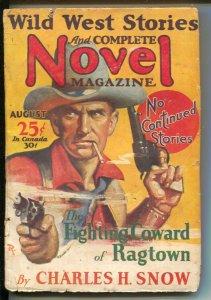 Wild West Stories & Complete Novel 8/1930-Pulp thrills- J. Allen Dunn, Charle...