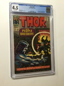 Thor 13r Cgc 4.5 Ow Pages 1st Fafnir High Evoltuionary Man-beast Marvel Silver