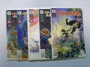 Tarzan (1996 Dark Horse) Run:#1-6, Missing:#3, 8.0/VF (1996)