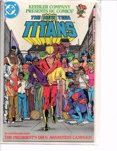 DC Comics The New Teen Titans #1 Drug Awareness Campaign Keebler George Perez