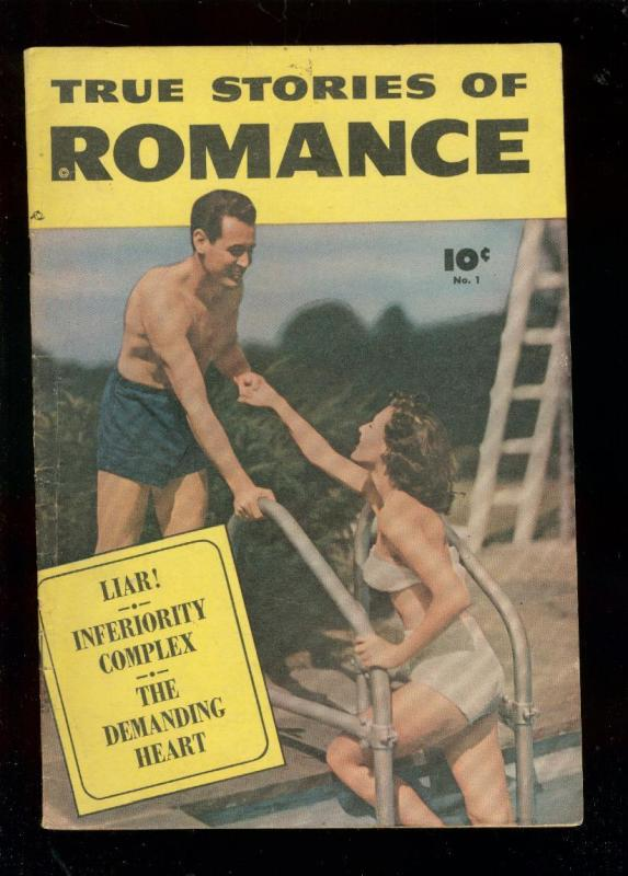 TRUE STORIES OF ROMANCE #1 1949-FAWCETT PHOTO COVER- VG