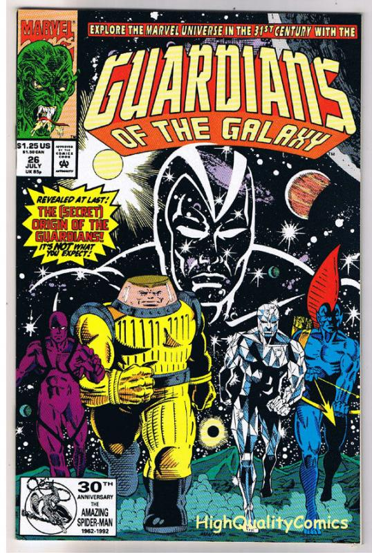GUARDIANS of the GALAXY 26, NM+, Secret Origin, 1990, more in store,31st Century