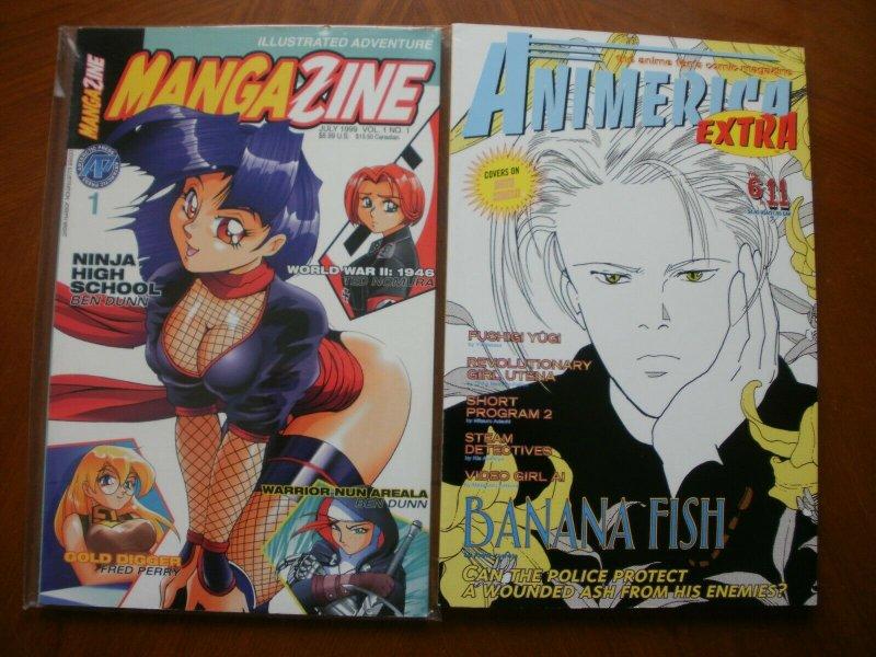 2 MANGA-ANIME Comic Magazine: ANIMERICA EXTRA Volume 6 #11 & MANGAZINE (1999 NHS