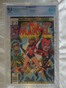 Ms. Marvel #18 - CBCS 9.2 - 1st full Raven Darkholme(MYSTIQUE)