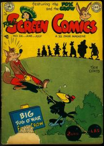 REAL SCREEN COMICS #24 1949-FOX AND CROW FLIPPITY G/VG