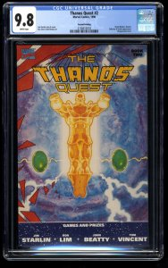Thanos Quest #2 CGC NM/M 9.8 White Pages Second Printing