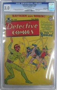 Detective Comics #140 CGC 3.0 (VG/GD) 1st App. Riddler (NCP-Canadian 1949)