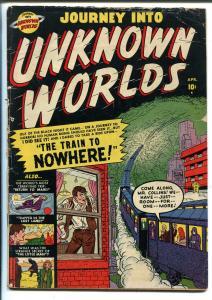 Journey Into Unknown Worlds #4 1951-Atlas-Russ Heath art-dismemberment-VG-