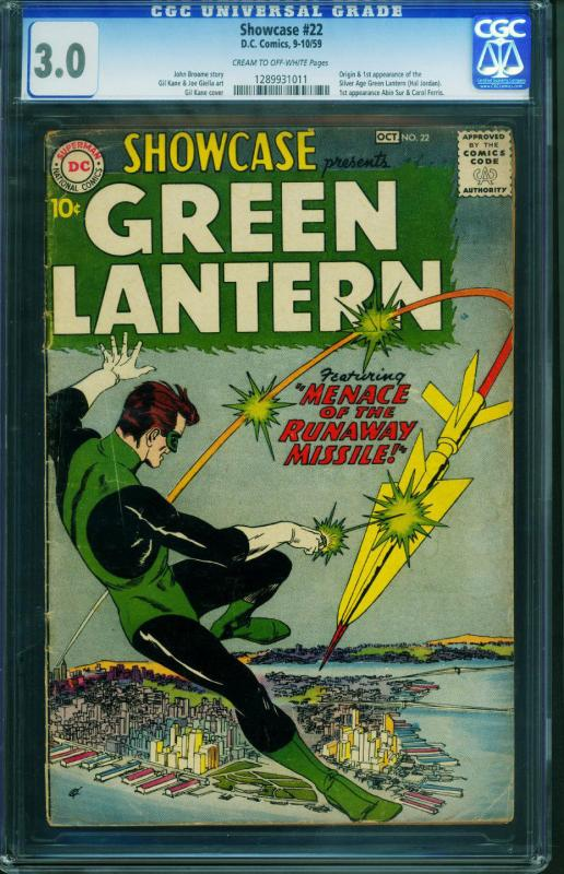 Showcase #22 CGC 3.0-First appearance of Green Lantern 1959 DC 1289931011