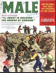 MALE 1960 MAY-NAZI TANK FIGHT COVER-J. BAMA VF