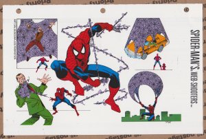 Official Handbook of the Marvel Universe Sheet - Spider-Man in Action