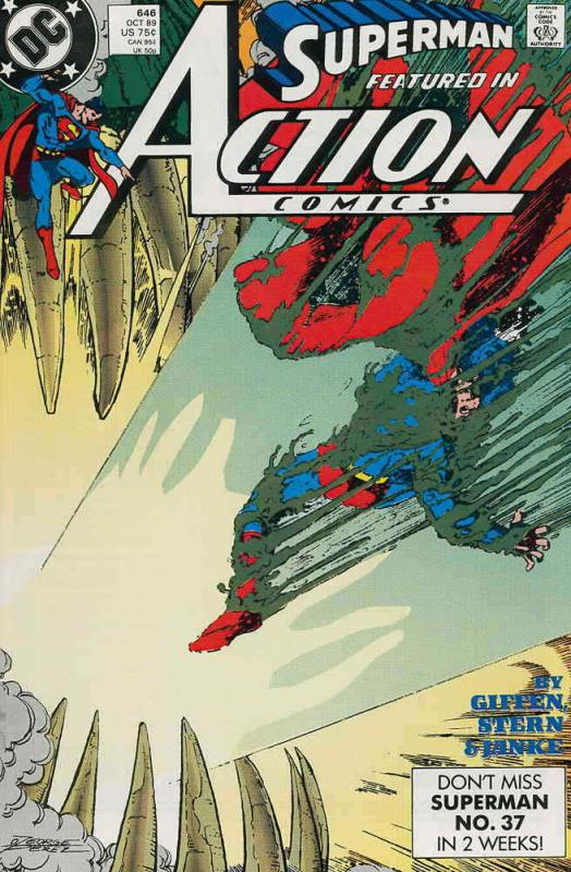 Action Comics #646 VF/NM; DC | save on shipping - details inside