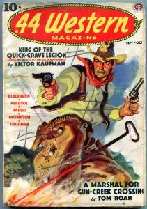 .44 Western Pulp September 1938- Tom Roan- Victor Kaufman G+