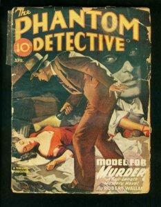 PHANTOM DETECTIVE APRIL 1946-MODEL FOR MURDER-HARDBOILED PULP THRILLS-good G
