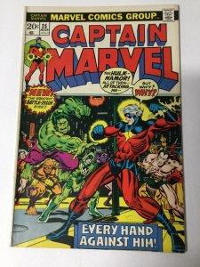 Captain Marvel 25 Fn Fine 6.0 Marvel