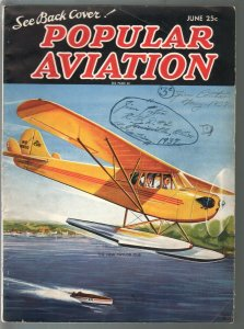 Popular Aviation 6/1937-New Taylor Cub cover-Lincoln stunt plane-G-