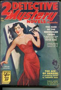 Two Detective Mystery Novels Fall 1950-Ace of Spades Skull cover