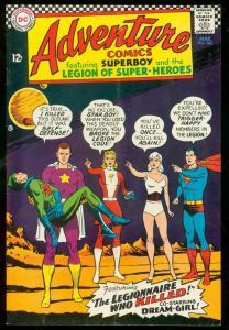ADVENTURE COMICS #342-SUPERBOY-STAR BOY COURT MARTIALED VG/FN