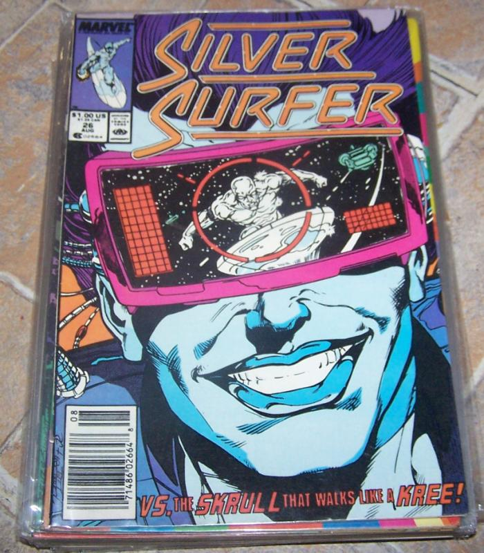 Silver Surfer #26 DEC 1989  MARVEL KREE SKRULL SPACE