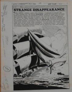 FRANK SPRINGER original art, GHOST STORIES #7 Splash, 1964, Bermuda Triangle