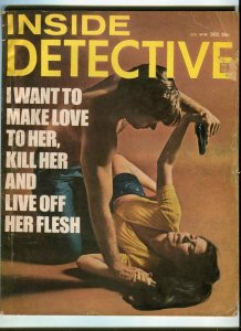 INSIDE DETECTIVE-DEC/1972-LOVE HER-KILL HER-EAT HER-HUNTED-SLAUGHTER IN PAR G