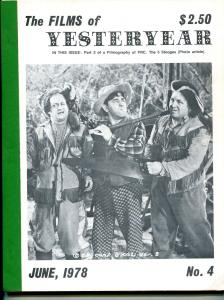 Films of Yesterday #4 6/1978-P.R.C. Pictures Filmography, part 2-VG
