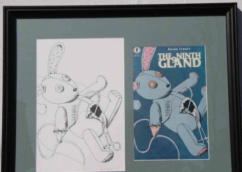 RENEE FRENCH original art, NINTH GLAND cover, 7.5x11.5,1997, aka Rainy Dohaney