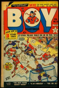 Boy Comics #50 1950-CHARLES BIRO-HOCKEY COVER-MAURER ART VG-