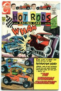 Hot Rods and Racing Cars #96 1969- Destruction Derby- Charlton VG