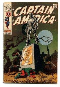 Captain America #113-Steranko-Marvel-1969 Bucky