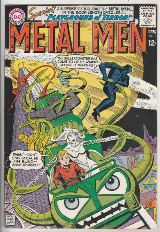 Metal Men #8 (Jul-64) FN- Mid-Grade Metal Men (Led, Tina, Tin, Gold, Mercury,...