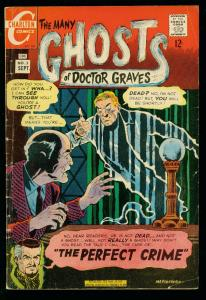 THE MANY GHOSTS OF DOCTOR GRAVES #3 1967-CHARLTON COMICS- vg