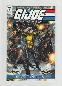 G.I. Joe: Silent Option #1 NM 9.0 IDW Comic Cover by Netho Diaz