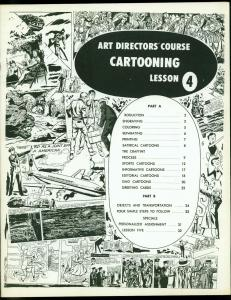 Art Directors Course Cartooning Lesson Four 1970- Satire- Sports FN/VF