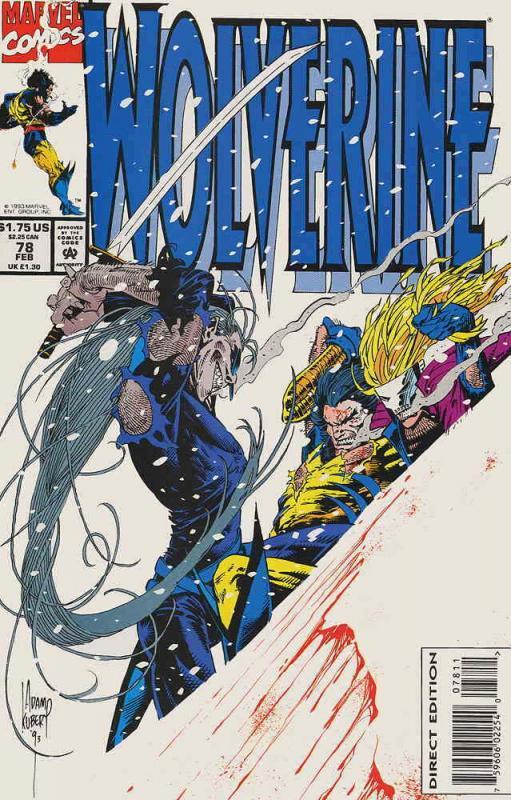 Wolverine #78 VF; Marvel | save on shipping - details inside