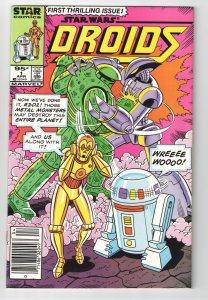 DROIDS #1 NM 9.6 RARE AND UNCOMMON(STAR COMICS)