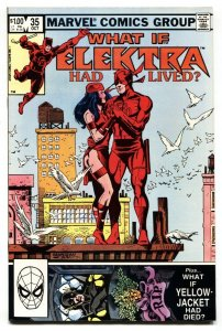 What If #35  ELEKTRA HAD LIVED - Daredevil 1982 NM-