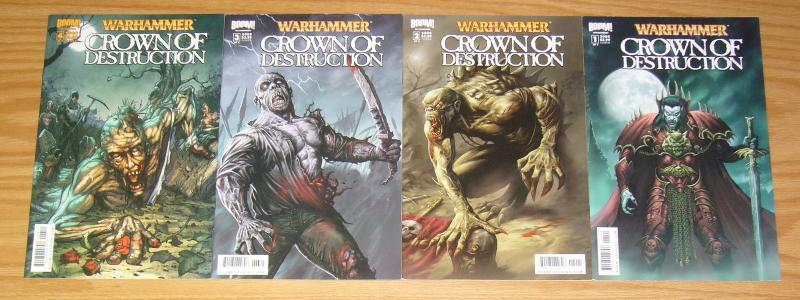 Warhammer: Crown of Destruction #1-4 VF/NM complete series - B variants set 2 3