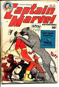 Captain Marvel adventures #105 1950-Fawcett-dog catcher cover-G