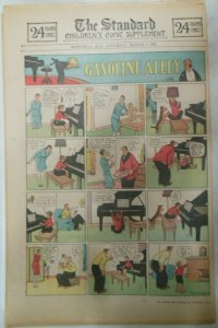 (50) Gasoline Alley Sunday Pages by Frank King from 1929 Size: 11 x 15 inches