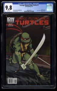 Teenage Mutant Ninja Turtles #1 CGC NM/M 9.8 Duncan Cover C Variant Leonardo