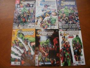 6 Near-Mint Marvel CHAMPIONS Comic #1 2 3 4 6 13 (Avengers) (2016) Waid Ramos