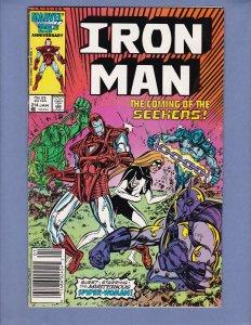 Iron Man #214 VF Spider-Woman Marvel 1987