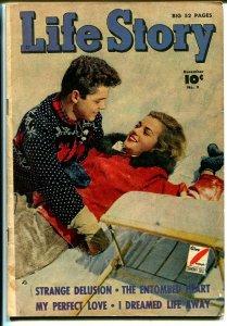 Life Story #9 1949-Fawcett-lingerie-headlights-swimsuit-VG