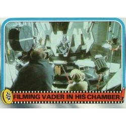 1980 Topps Star Wars The Empire Strikes Back FILMING VADER IN HIS CHAMBER #256 E