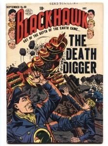 BLACKHAWK COMICS #80-QUALITY-1954-REED CRANDALL ART-THE DEATH DIGGER FN/VF