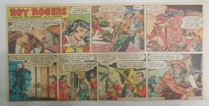 Roy Rogers Sunday Page by Al McKimson from 4/18/1954 Size 7.5 x 15 inches
